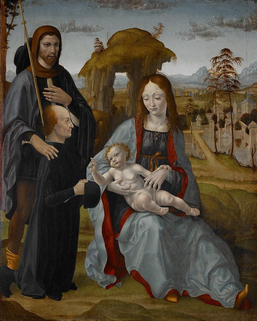 _VDS 1495 ca Maestro della Pala Sforzesca - Madonna con Bambino e San e un donatore Museum of Fine Arts, Houston