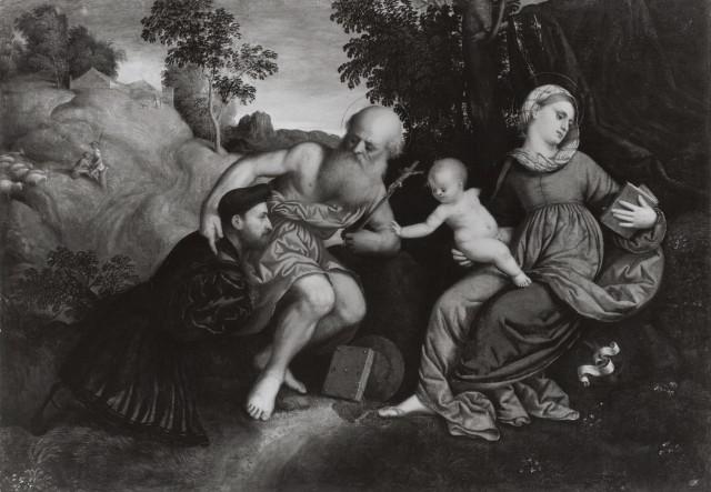 _VSD 1520-71 Paris Bordone Madonna con Bambino, san Girolamo e donatore