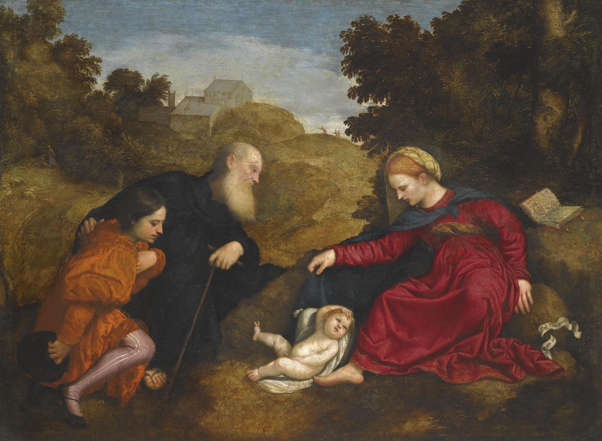 _VSD 1520-71 Paris_Bordone_-_Madonna_con_Bambino_e_Sant'Antonio_e_un_giovane_donatore coll privee
