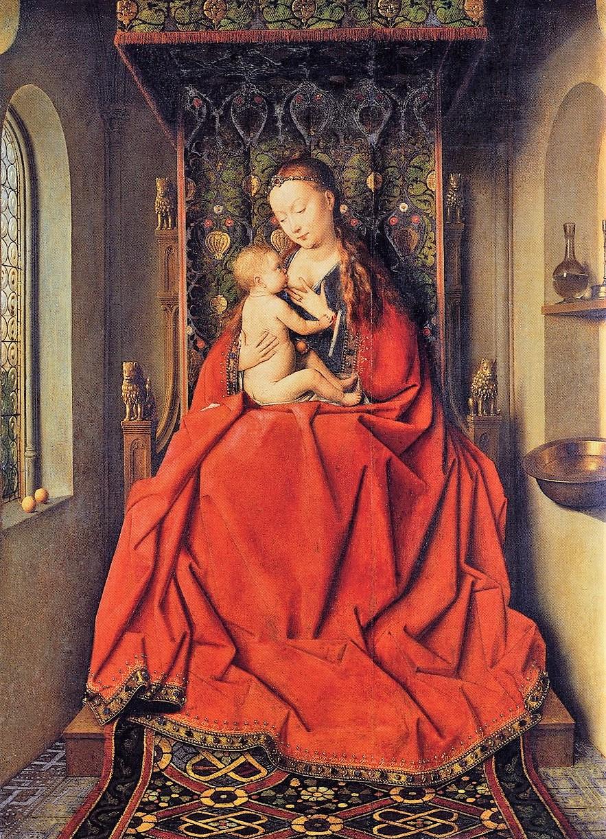 Van-Eyck 1435 The Lucca Madonna Staedel Museum Francfort