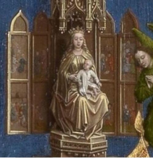 Van des Weyden 1445-50 Seven_Sacraments Altarpiece Royal Museum of Fine Arts Antwerp detail retable