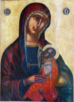 XIIeme XIIIeme Vergine Galaktotrophusa Monastere S.Maria di Maniace Sicile
