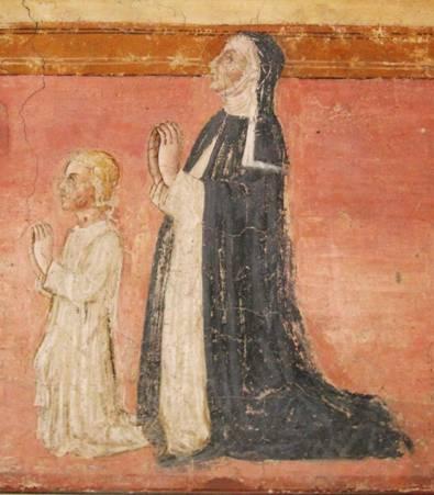 margherita-bandini-e-la-figlia-ginevra fresque de Bartolomeo Bocchi a San Niccolo