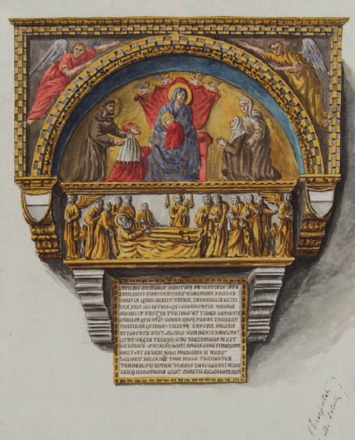 1339 Paolo Veneziano doge-francesco-dandolo-and-his-wife Jan revembroch, Monumenta Veneta (1754), II, f. 52 (BMCV, MS Gradenigo-Dolfin 208
