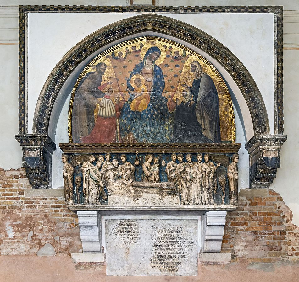 1339 Paolo Veneziano doge-francesco-dandolo-and-his-wife St Francis and St Elisabeth of Hungary-Santa Maria Gloriosa dei Frari, Venice