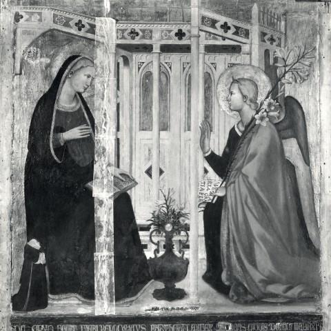 1346 Andrea_di_Cione_Orcagna,_Annonciation con donatore Bellozzo di Bartolo(,_Collection_Conte_Gerli,_Milan_