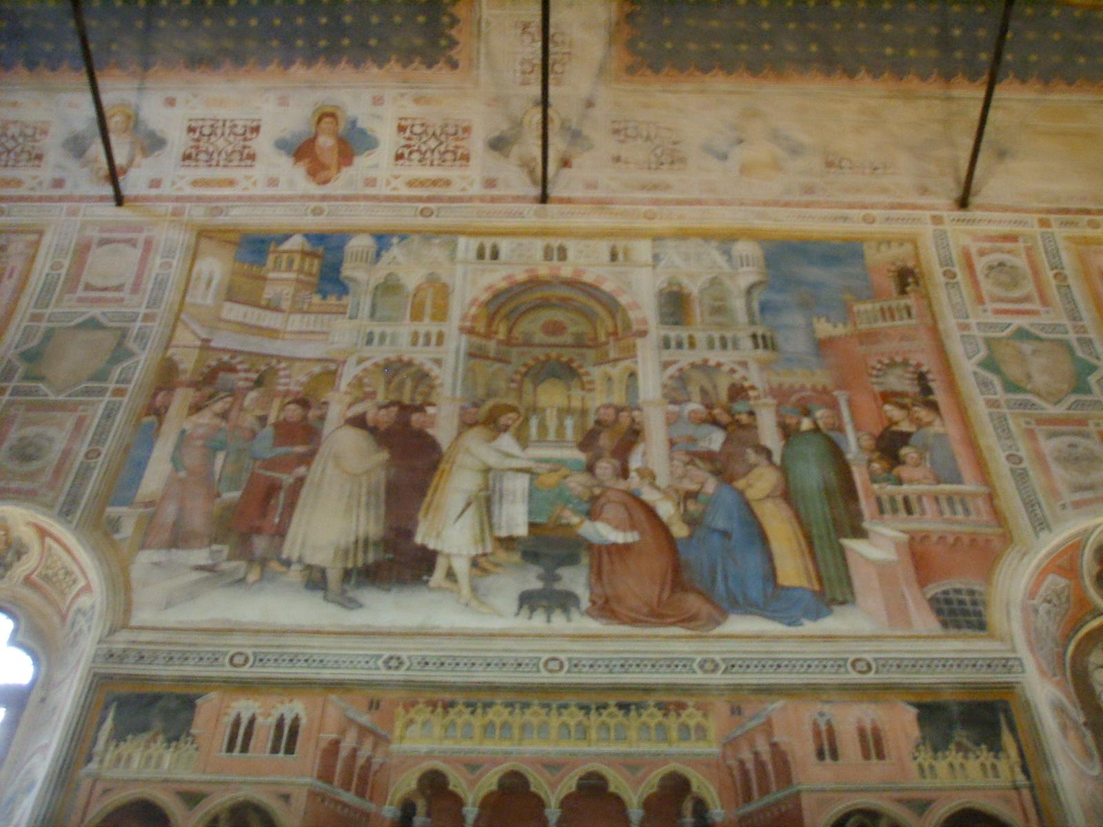 1377-79 Altichiero,_oratorio_di_san_giorgio, Saint Georges baptise Servio le roi de Silene