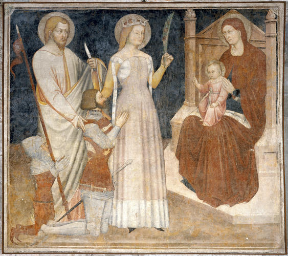1380 ca Maestro di San Francesco St Bartholomee, Agathe Accademia Carrara Bergamo (convento di San Francesco)