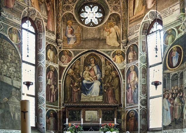1382 Sant'Antonio_(Padua)_-_Cappella_del_beato_Luca_Belludi famille Conti St Jacques St Philippe_-_Giusto_de'_Menabuoi