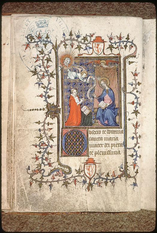 1387 avant Pierre de Luxembourg priant la Vierge de l'Annonciation Avignon - BM - ms. 0207