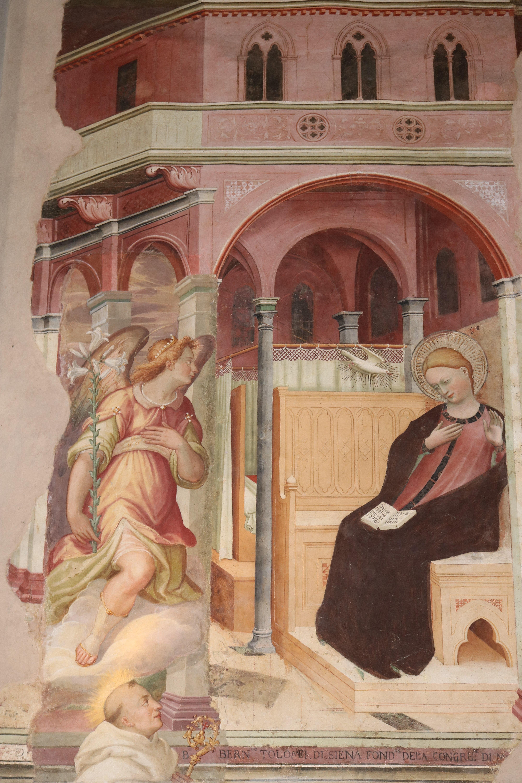 1390-1400 Giovanni_di_bartolomeo_cristiani,_annunciazione,__San Benedetto (Pistoia)