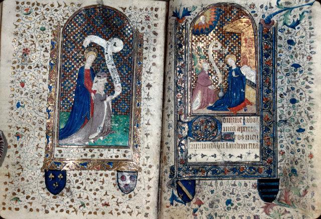 1400-25 Heures à l'usage de Paris Besancon - BM - ms. 0146 f. 028v