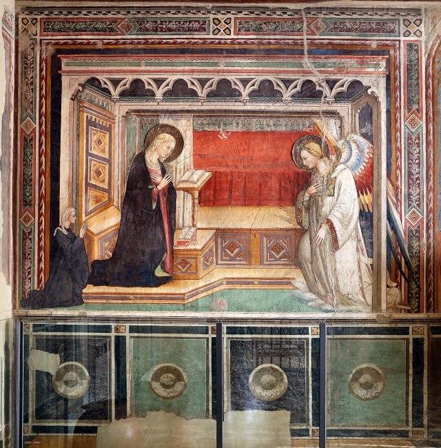 1420 ca Bicci_di_lorenzo,_annunciazione_con_committente,_e_santi,Convento di Fuligno