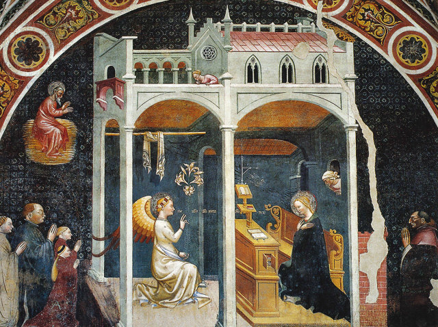 1427 Annonciation avec la familledu chanoine Ravacaldi cappella-ravacaldi Duomo Parme