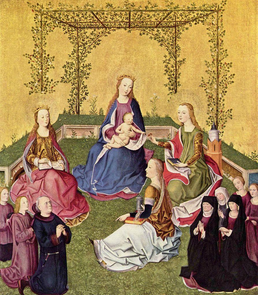 1430 ca Ecole de Cologne Vierge dans l'hortus conclusus Gemaldegalerie Berlin