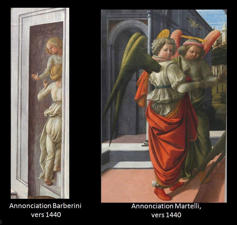 1435 Fra Filippo Lippi Galerie nationale d'art ancien, Palazzo Barberini Rome comparaison Martelli