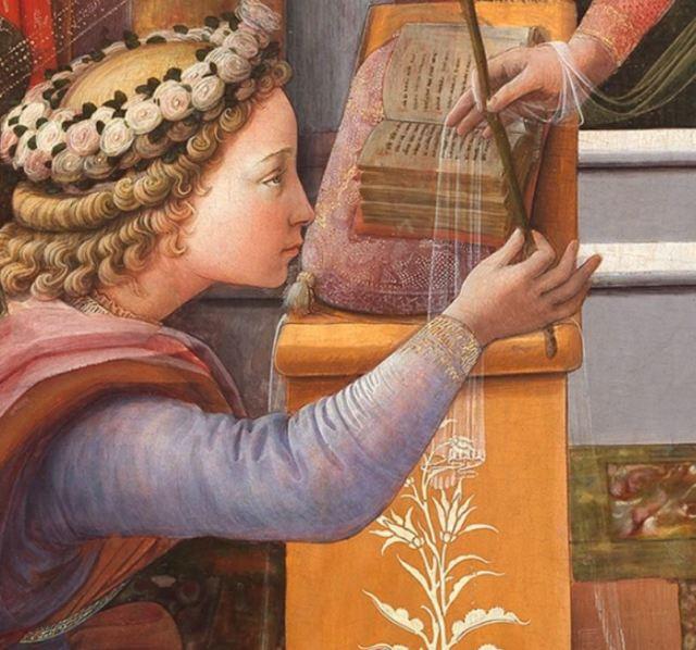 1435 Fra Filippo Lippi Galerie nationale d'art ancien, Palazzo Barberini Rome detail main