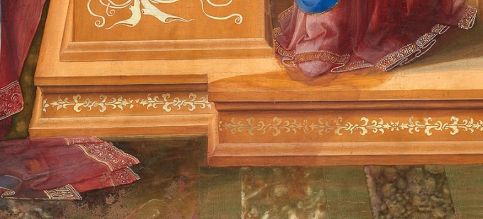 1435 Fra Filippo Lippi Galerie nationale d'art ancien, Palazzo Barberini Rome detail ombre