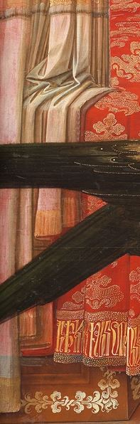 1435 Fra Filippo Lippi Galerie nationale d'art ancien, Palazzo Barberini Rome detail rideau bas