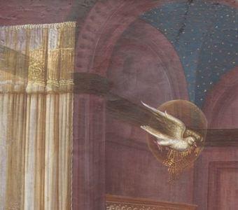 1435 Fra Filippo Lippi Galerie nationale d'art ancien, Palazzo Barberini Rome detail tissu