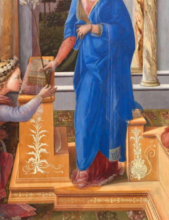 1435 Fra Filippo Lippi Galerie nationale d'art ancien, Palazzo Barberini Rome detail