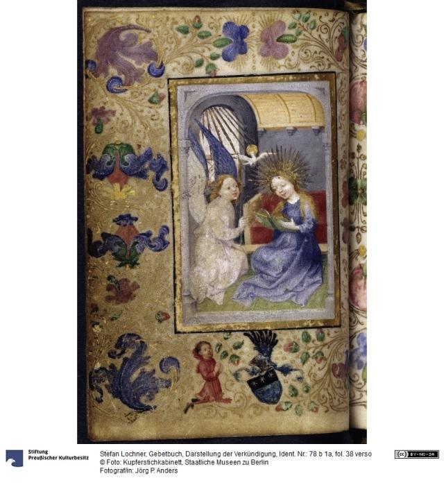 1444 Stefan Lochner Livre d'Heures 78b 1a fol 38 Kupferstichkabinett Berlin