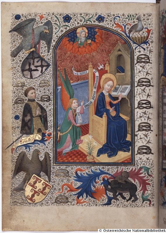 1450 Montfort-Gebetbuch Osterreichische Nationalbibliothek Cod. Ser. n. 12878, fol. 25v