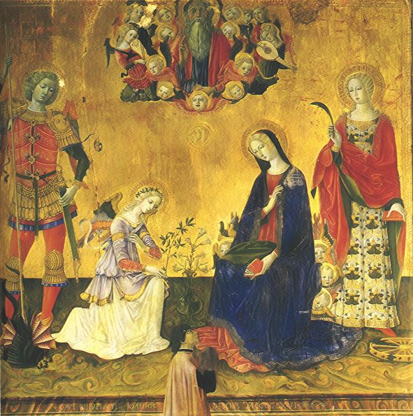 1466 benvenuto di giovanni annunciazione Museo d'arte sacra Volterra
