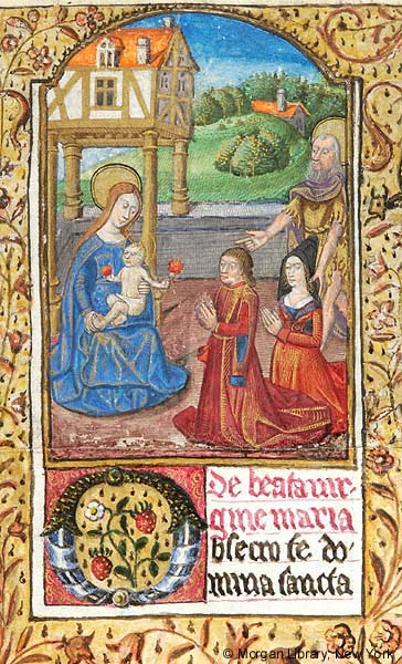 1475 ca Book of Hours perhaps Paris, Morgan Library MS S.5 fol. 22r