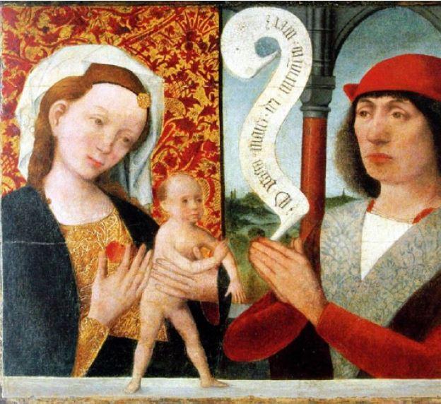 1480-90 Hermen Rode. Ratsherr Hinrich Lipperade O virgo mater die memento mei. St Annen museum Lubeck