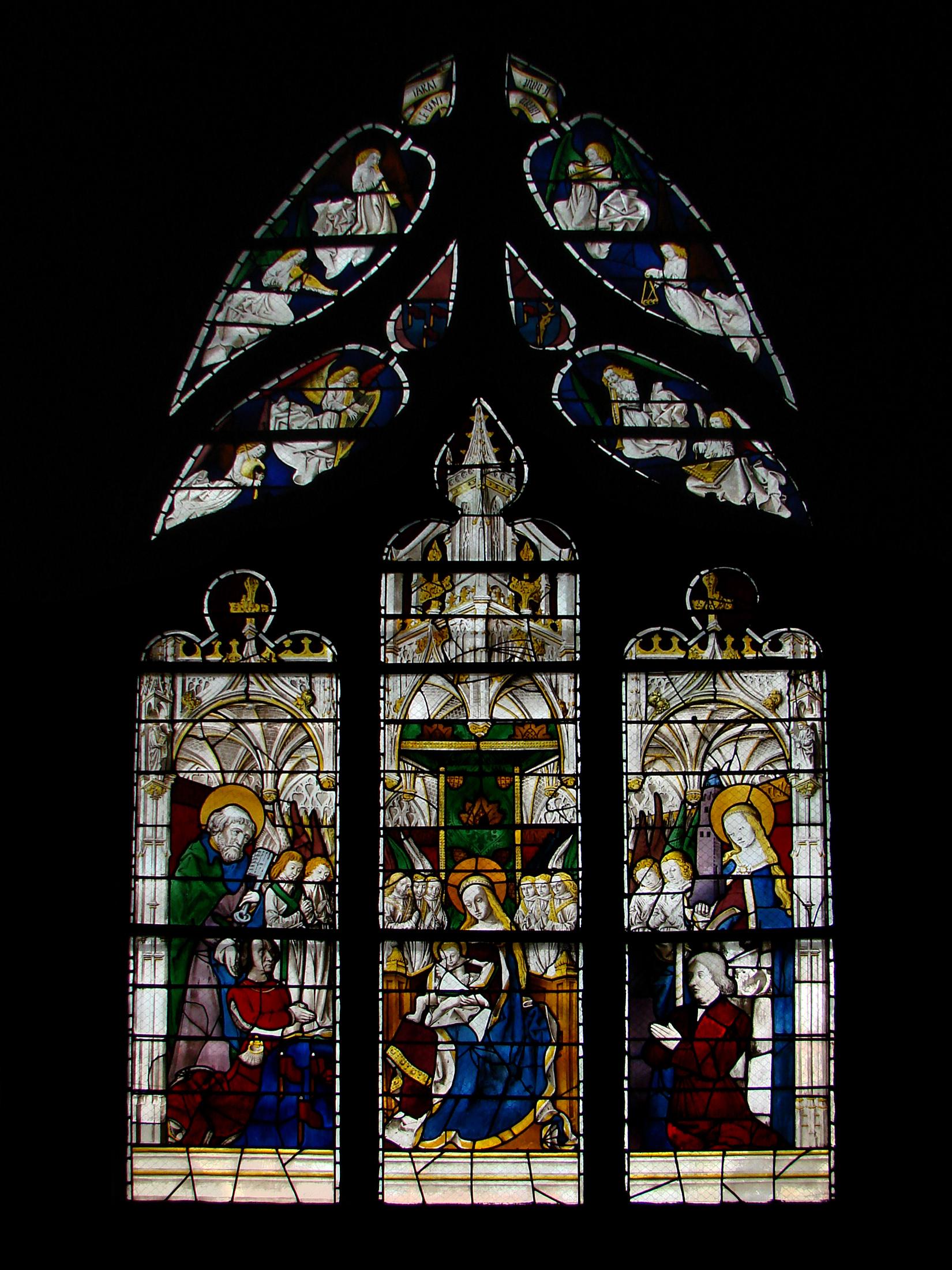 1480-90 Pierre petitde et epouse cathedrale Moulins