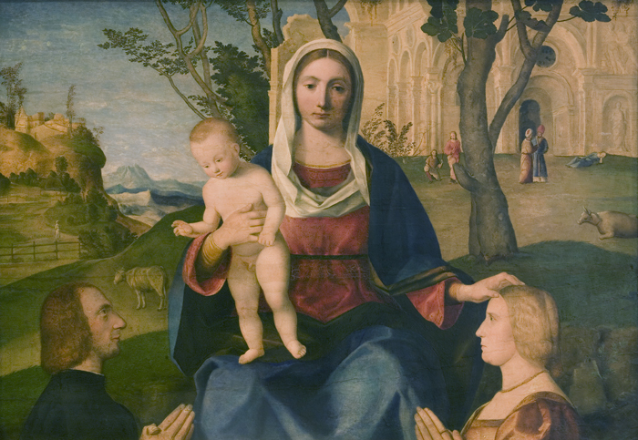1485-1531-Vincenzo_Catena_-_The_Virgin_and_Child_with_a_Male_and_a_Female_Donor_-_KMS3673_-_Statens_Museum_for_Kunst.jpg