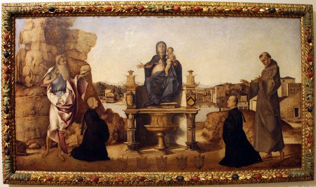 1486, Benedetto_diana san_Girolamo,_san_Francesco_d'Assisi_e_i_donatori Girolamo Pesaro Giovanni Francesco Trevisan ,__Ca' d'Oro