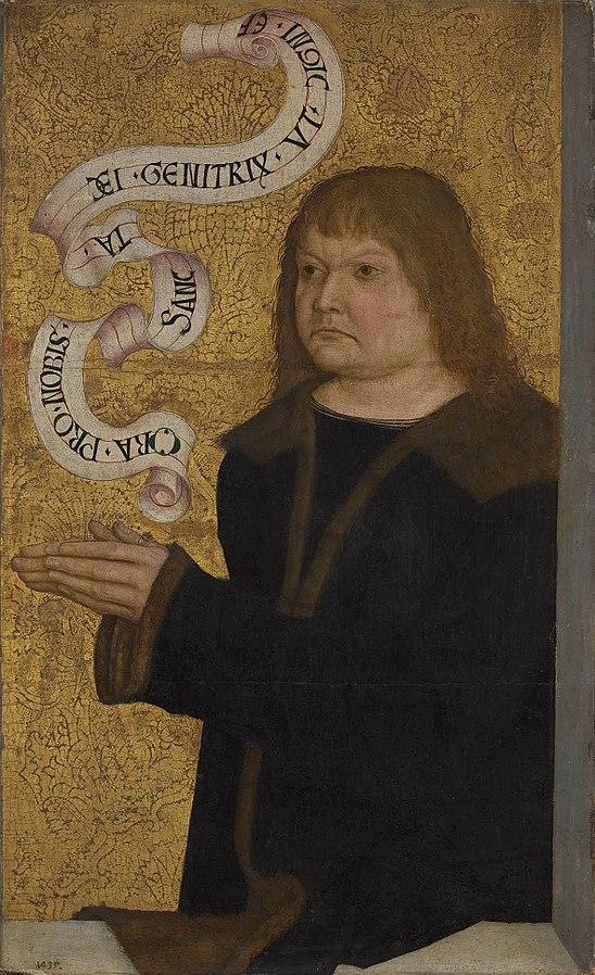 1490-1500 Bernhard Strigel Hans Funk Diptychon B, Alte Pinakothek Munchens