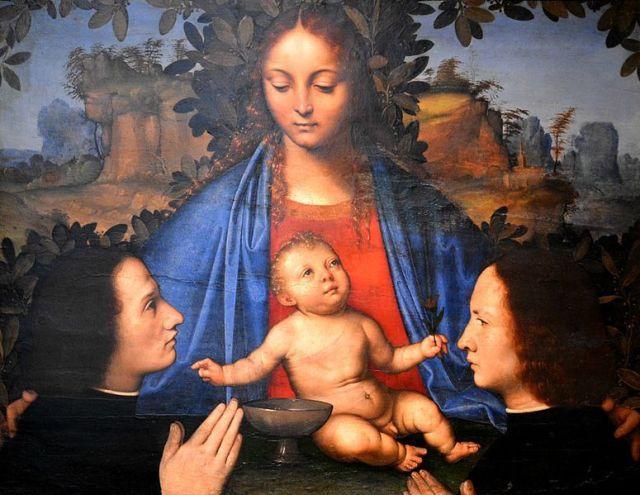 1490 - 1524 Giovanni Agostino da Lodi Madonna con Bambino e devoti, Museo nazionale di Capodimonte