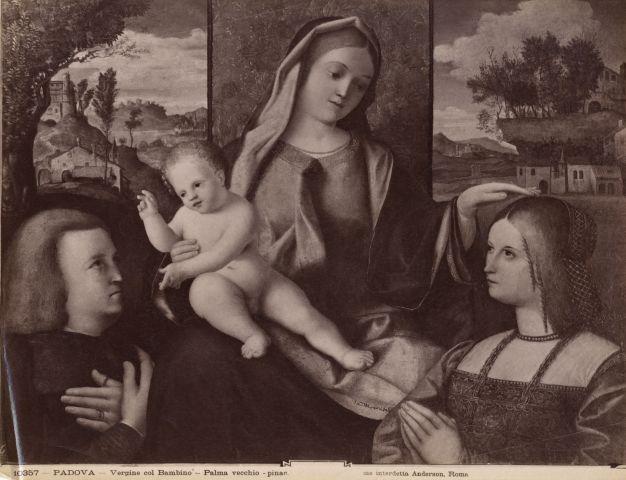 1490 - 1524 Maestro veneto dell'Incredulita di San Tommaso, Sacra Conversazione con donatori Musei Civici agli Eremitani, Padova