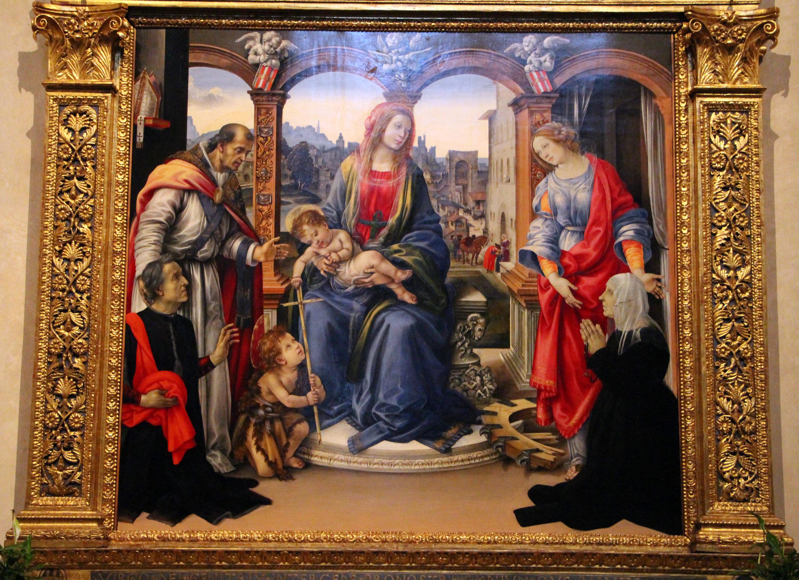 1490-93 Pala Nervi Filippino_Lippi Basilique Santo_Spirito