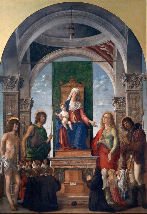 1490 Giambattista_Cima_da_Conegliano_-Pala Oderzo_Sacra_Conversazione Brera