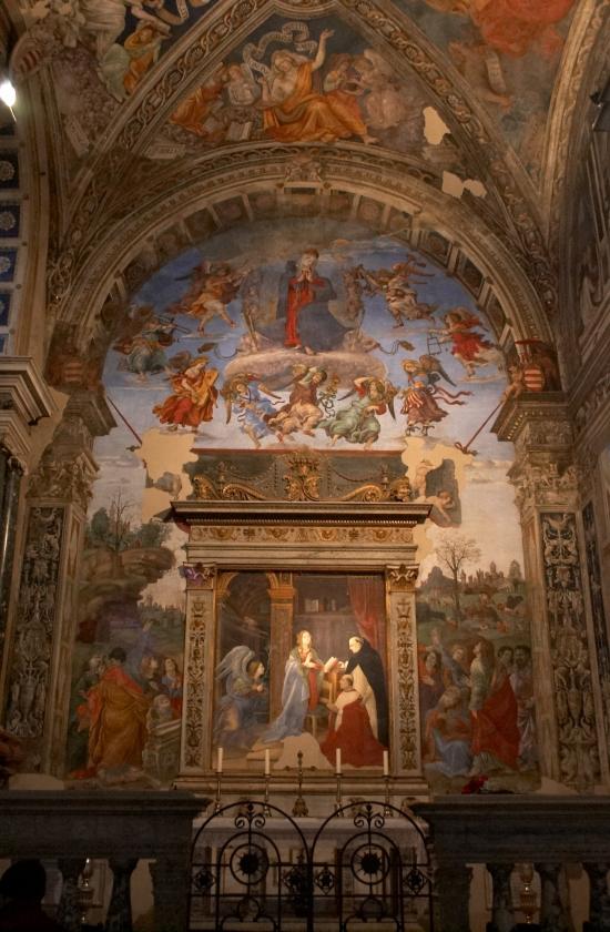 1493 filippino-lippi Carafa Chapel Santa Maria sopra Minerva ensemble