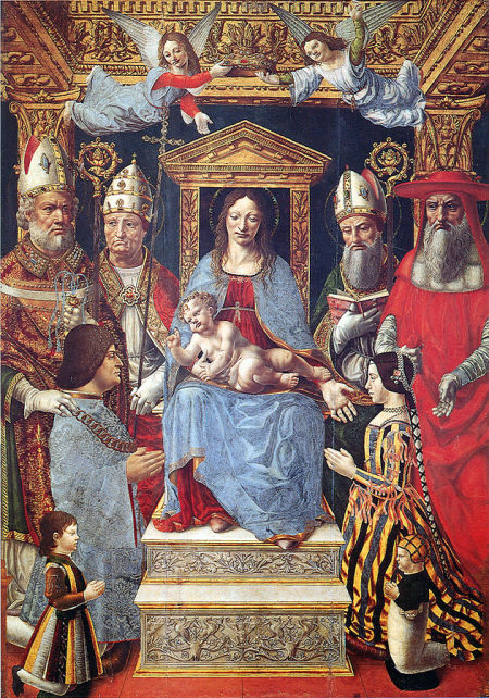 1494-95 Maitre de la Pala Sforzesca Pala_sforzesca Brera Milan