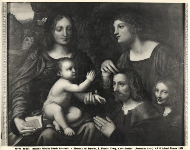 1500 - 1532 Luini Bernardino , san Giovanni Evangelista e donatori Palazzo Borromeo, Isola Bella, Stresa