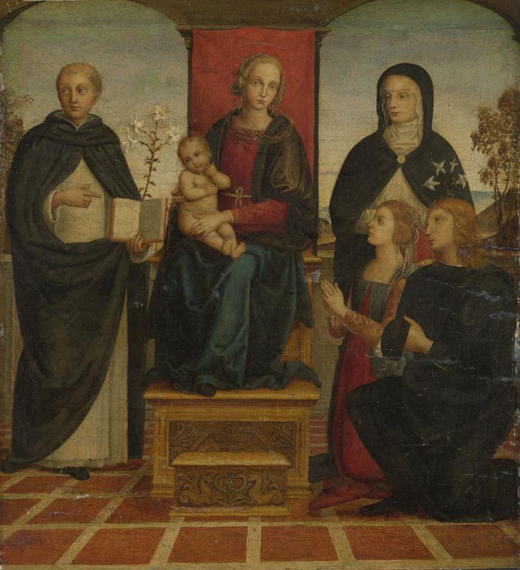 1500-49 Suiveur du Perugin, san Domenico, santa Caterina da Siena e due donatori National Gallery