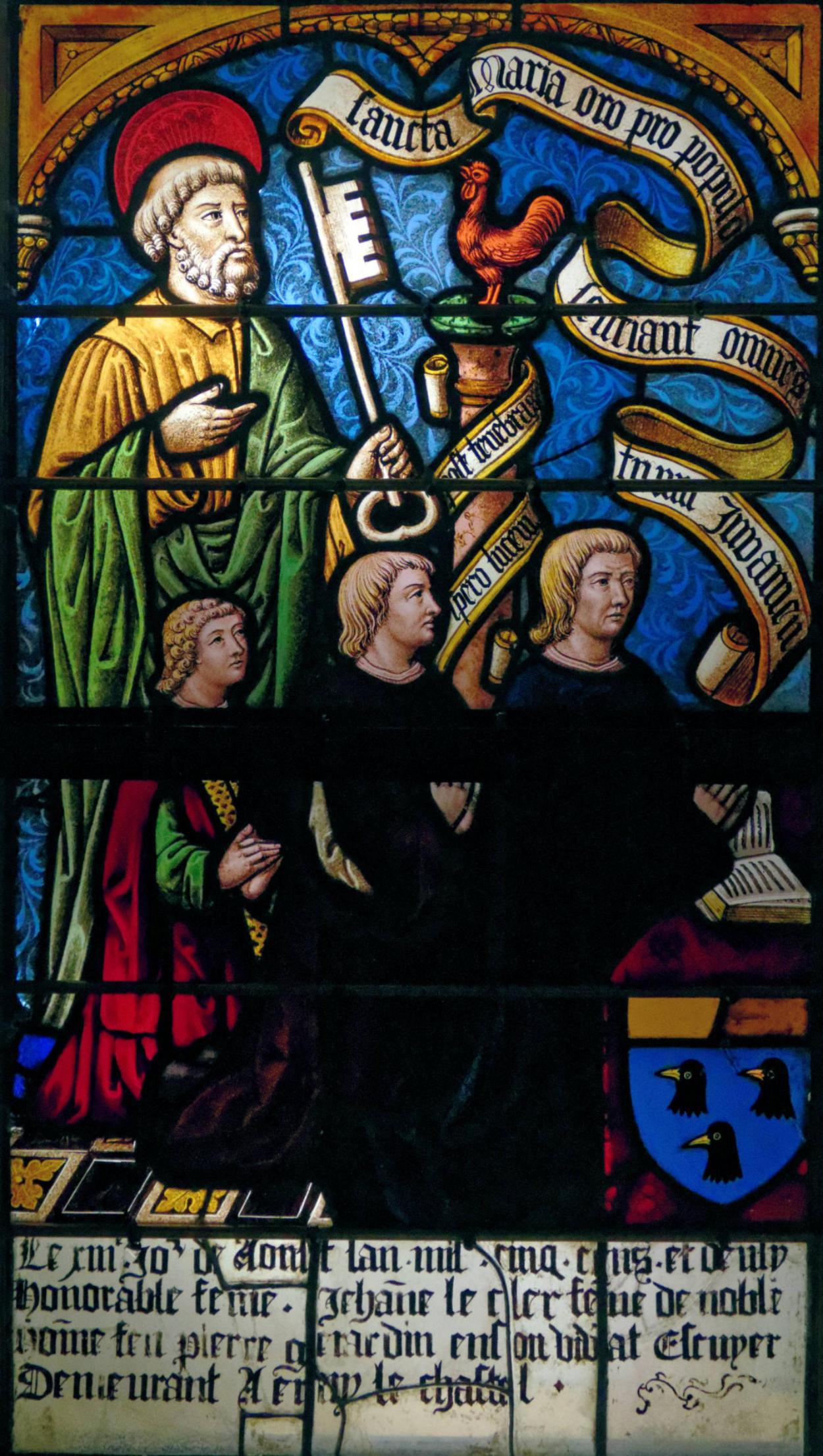 1502 Les Triomphes de Petrarque, eglise Saint-Pierre-Es-Liens, Ervy-le-Chatel donateur Pierre Girardin