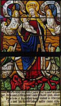 1502 Les Triomphes de Petrarque, eglise Saint-Pierre-Es-Liens, Ervy-le-Chatel vierge