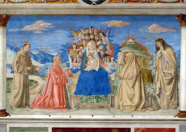 1503 ca Morone donateur Lionello Sagramoso et epouse Anna Tramarino Eglise San Bernardino Verone