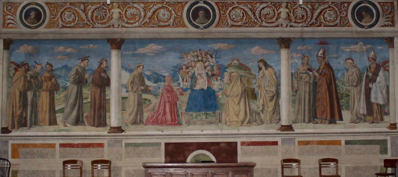 1503 ca Morone donateur Lionello Sagramoso et epouse Anna Tramarino Eglise San Bernardino Verone ensemble
