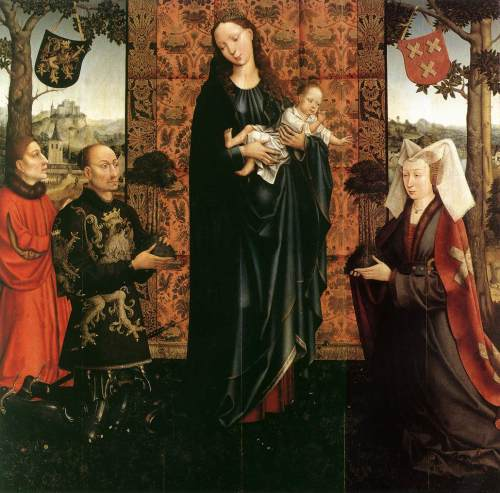 1511 Goswin_van_der_Weyden_-_The_Gift_of_Kalmthout_-_WGA25568 Gemalde Berlin