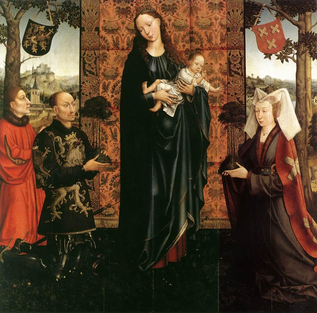 1511 Goswin_van_der_Weyden_-_The_Gift_of_Kalmthout_-_WGA25568 Gemalde Berlin