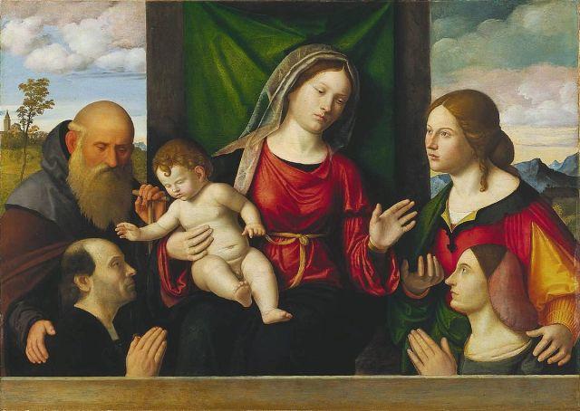 1515_ca Cima_da_conegliano,_madonna_col_bambino,_santi_e_committenti Cleveland Museum of Art