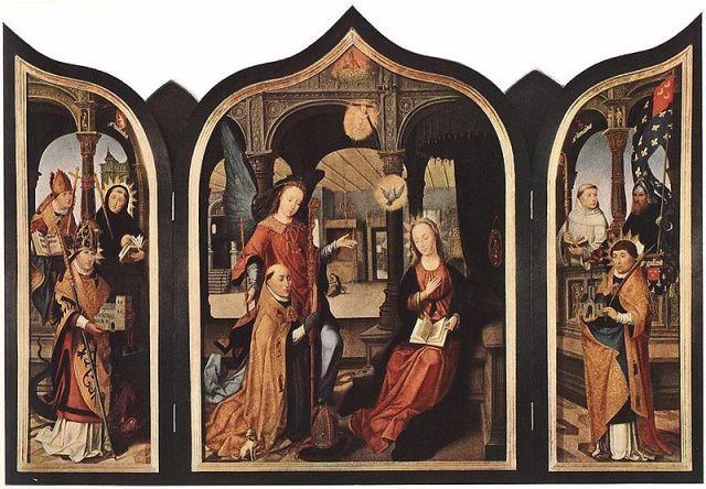 1516-17 Bellegambe_Annunciation Ermitage